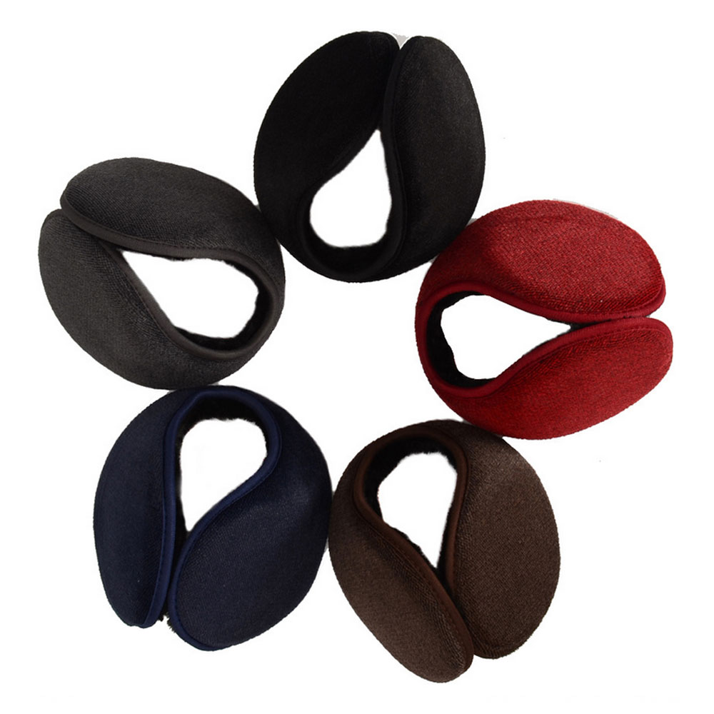 Kowledge 60 Second Winter Earmuffs Ear Warmers Faux Fur Foldable Plush Outdoor Gift