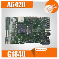 A6420 MAIN_BD._/UMA/TPM With G1840 Motherboard For ASUS A6420 All in one Desktop Mainboard 90PT01B0 R02000 DDR3 1600MHz Test OK