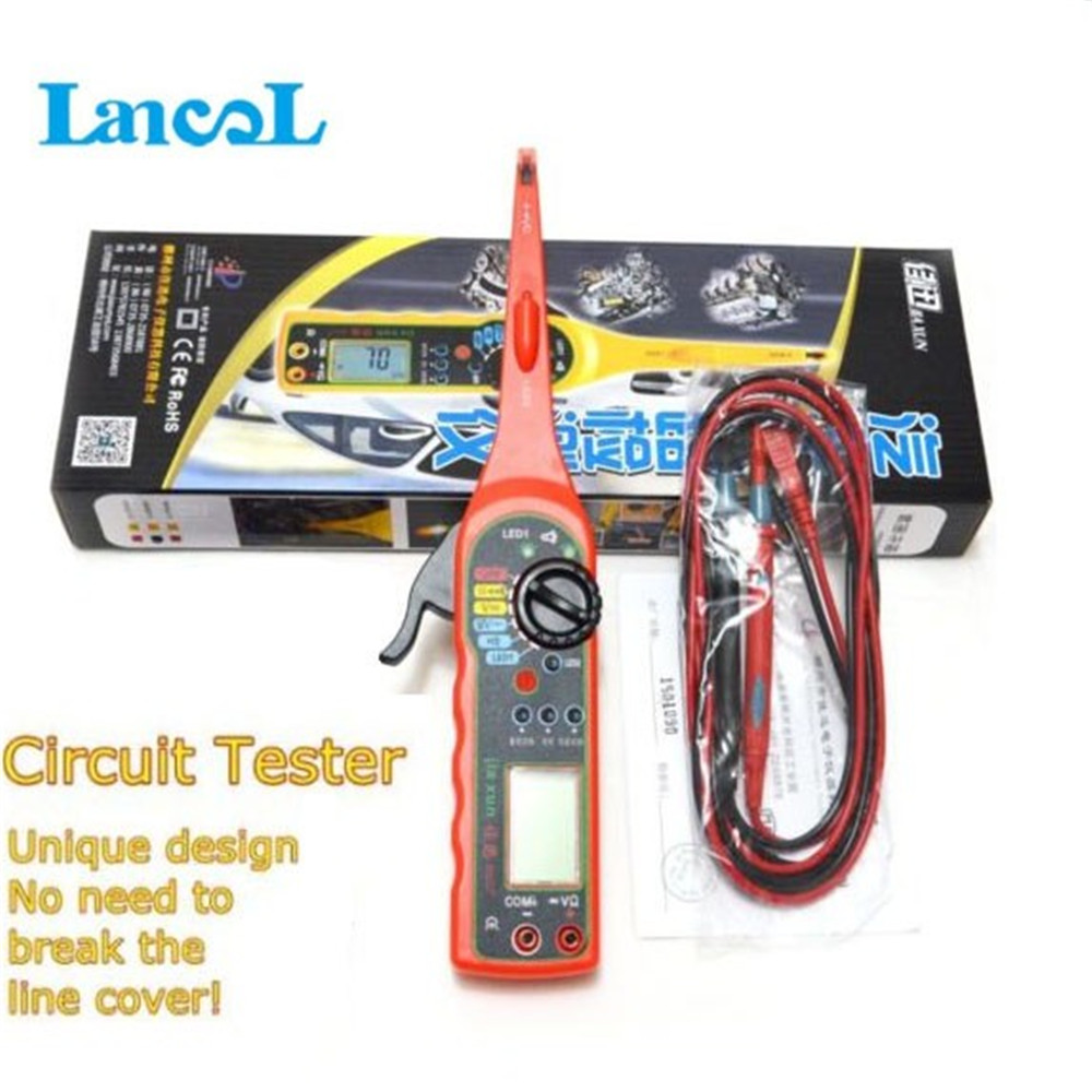 Hot Sale MS8211 Car Automotive Electrical Multi-function Multimeter Auto Circuit Tester Multimeter Lamp  AutRepair Tools 4 in 1