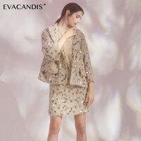 Блестящее Золотое Платье с вышивкой элегантное перьевое дизайнерское винтажное модное осеннее офисное облегающее платье свитер Женское