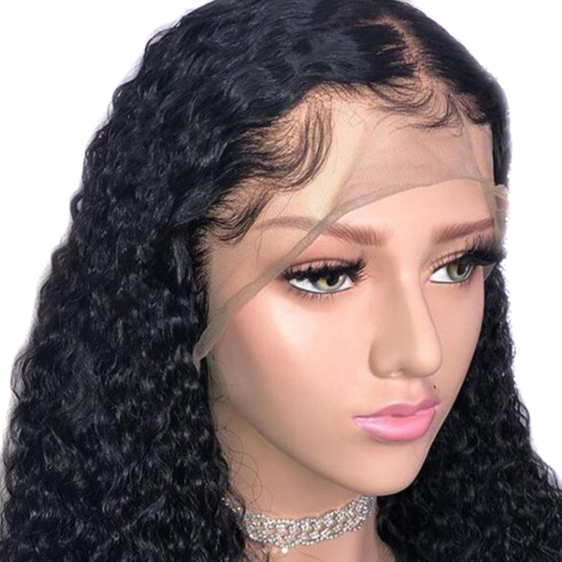 Atina 13x6 Lace Front Wig Pre Plucked Deep Part Water Wave Brazilian 360 Lace Frontal Human