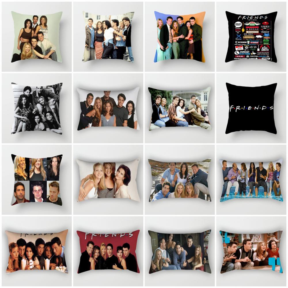 zengia friends tv show cushion cover 45x45cm polyester friends pillow cover sofa decorative cushions 30x50cm decorative pillows