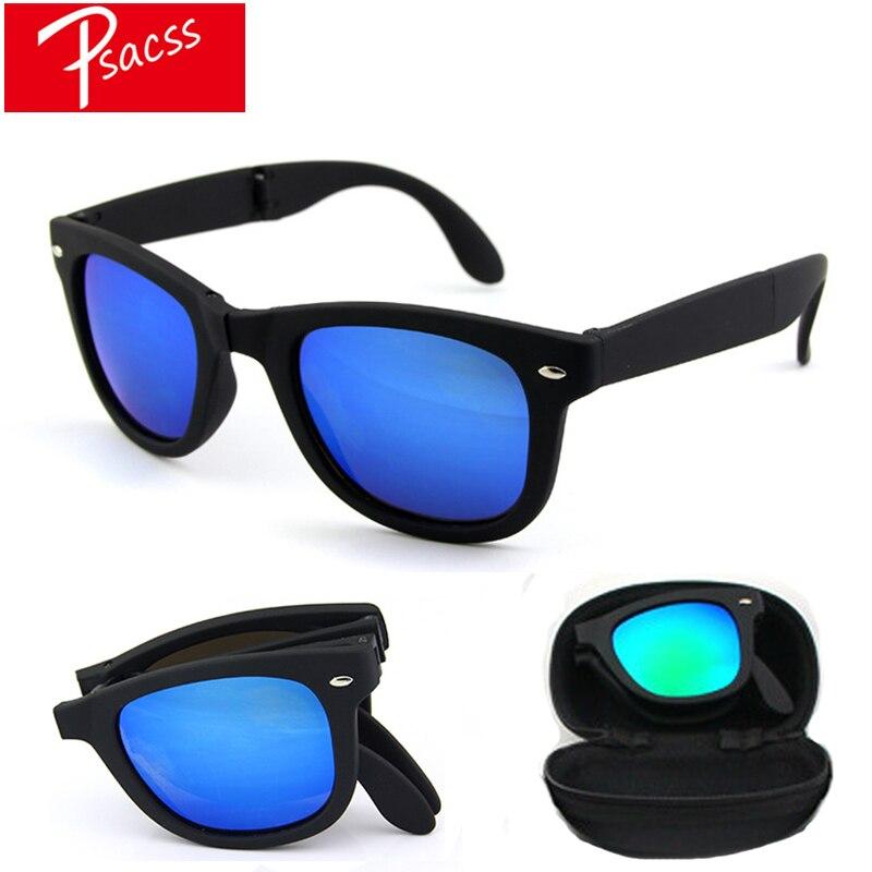 Psacss New Vintage Square Sunglasses Women Men Brand Designer Women's Folding Fashion Portable Sun Glasses Gafas De Sol Mujer