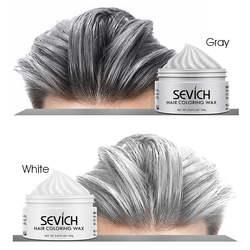 Временные волосы цветной воск Мужская грязь DIY одноразовая формовочная паста Краска Крем гель для волос для окрашивания волос Стайлинг