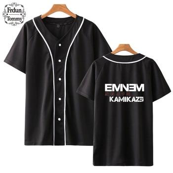2018 Frdun Tommy Eminem Kamikaze Baseball T-shirt Vrouwen/Mannen Zomer T-shirt 2018 Fashion Jassen Baseball T-shirt Mode Kleding