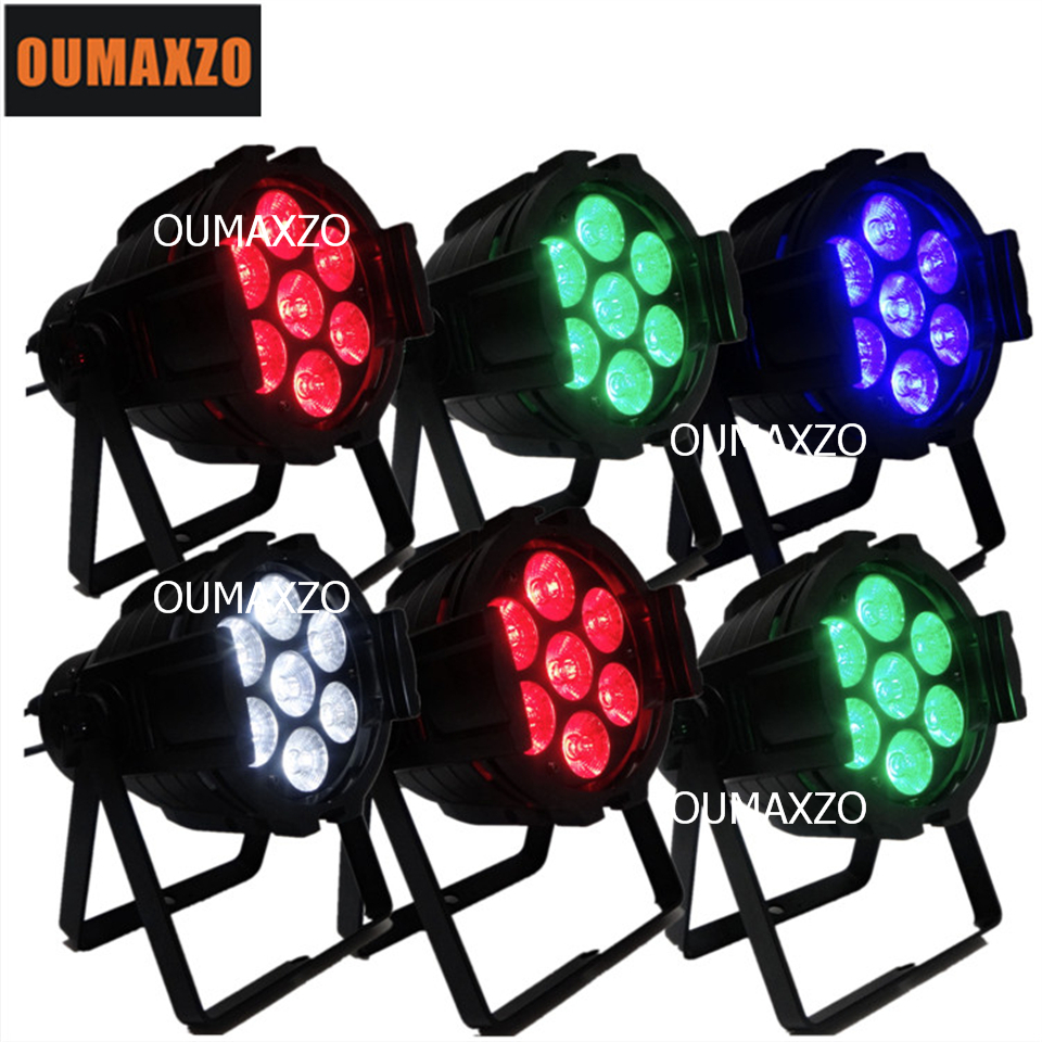 6pcs/lot Stage led par 64 rgbw dmx stage lighting 4in1 led slim par 7x10W LED Light Source and IP Rating 10watt led slim par шорты grishko шорты