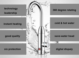 Image 3 - DMWD Electric kitchen instant heating faucet heater hot cold dual use Tankless water quickly heating tap shower with LED display