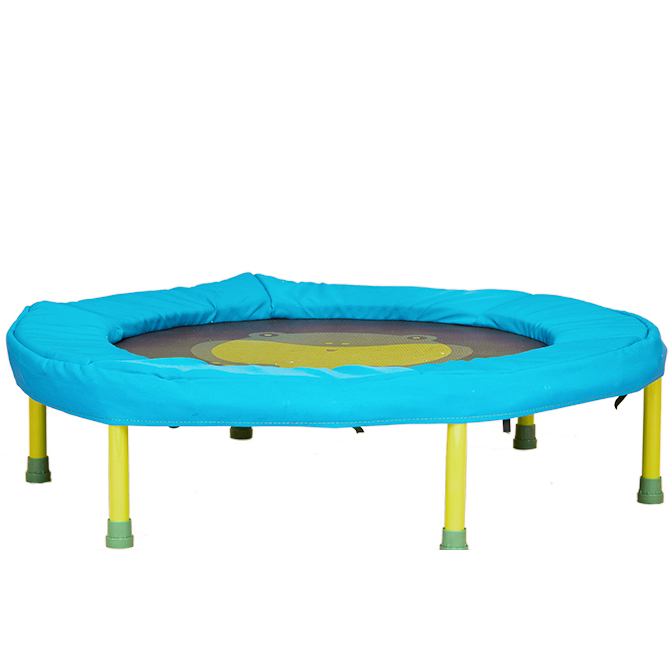 2019 nouveau roulement 25 kg 34 pouces Mini Trampoline pliant remise en forme entraînement rebondeur enfants Trampoline pour enfants 2-6 ans bleu