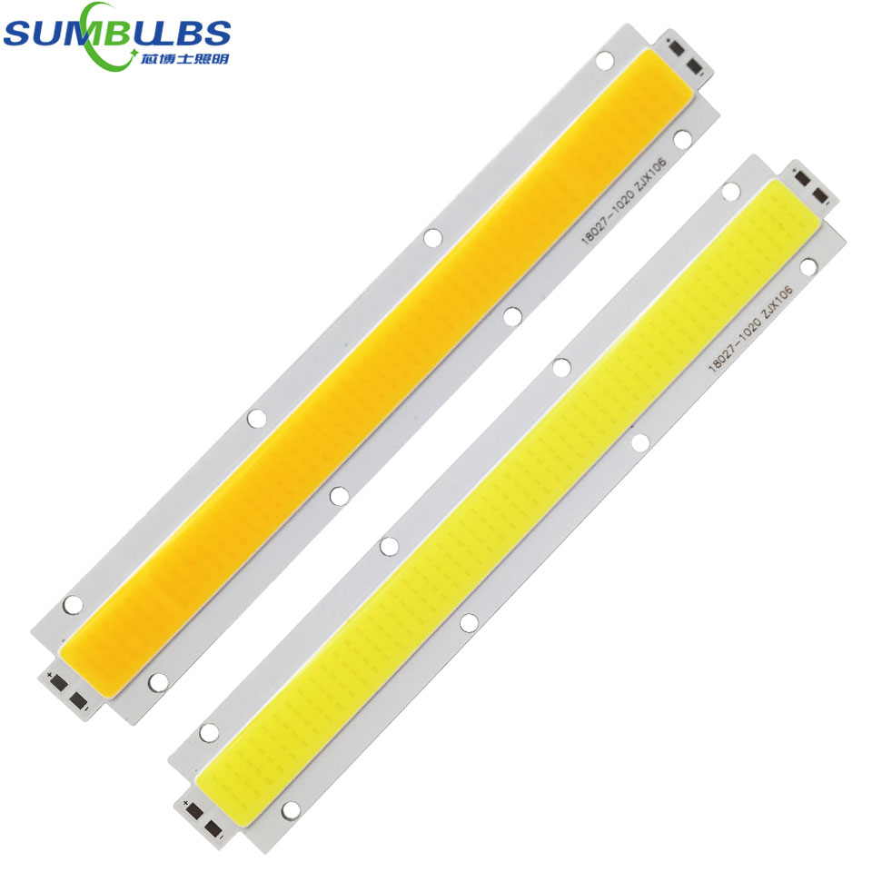 Sumbulbs 180x27MM High Power 150W LED light Strip COB Bulb DC 28-33V Warm/ Cold White Ultra Bright LED Lighting Source for DIY high quality 30w cold warm white cob high power led stripe led light chip emitting diode bulb 3000lumen 800ma 36 39v 2pcs lot