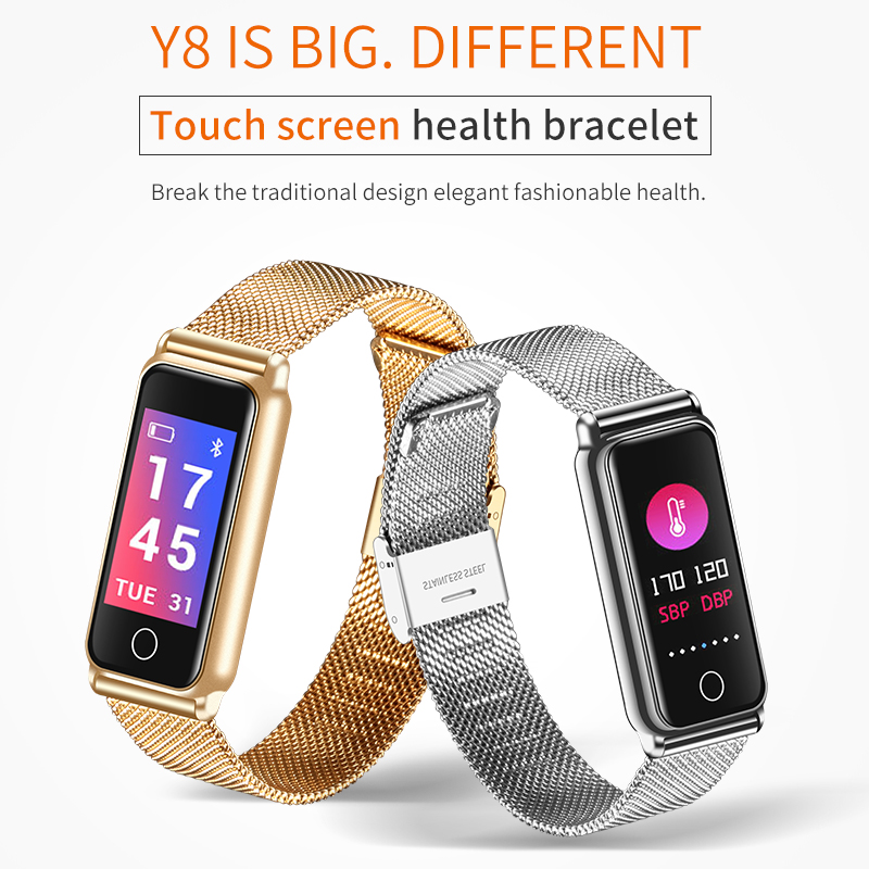ABAY Bluetooth Waterproof Y8 Smart Watch Fashion Women Heart Rate Monitor Health Watch Vibrating Smart Bracelet for Android IOS|Smart Watches| |  - title=