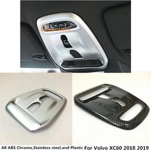 For Volvo XC60 2018 2019 Car styling stick cover front head ABSmatte read reading switch button light lamp frame trim part 1pcs