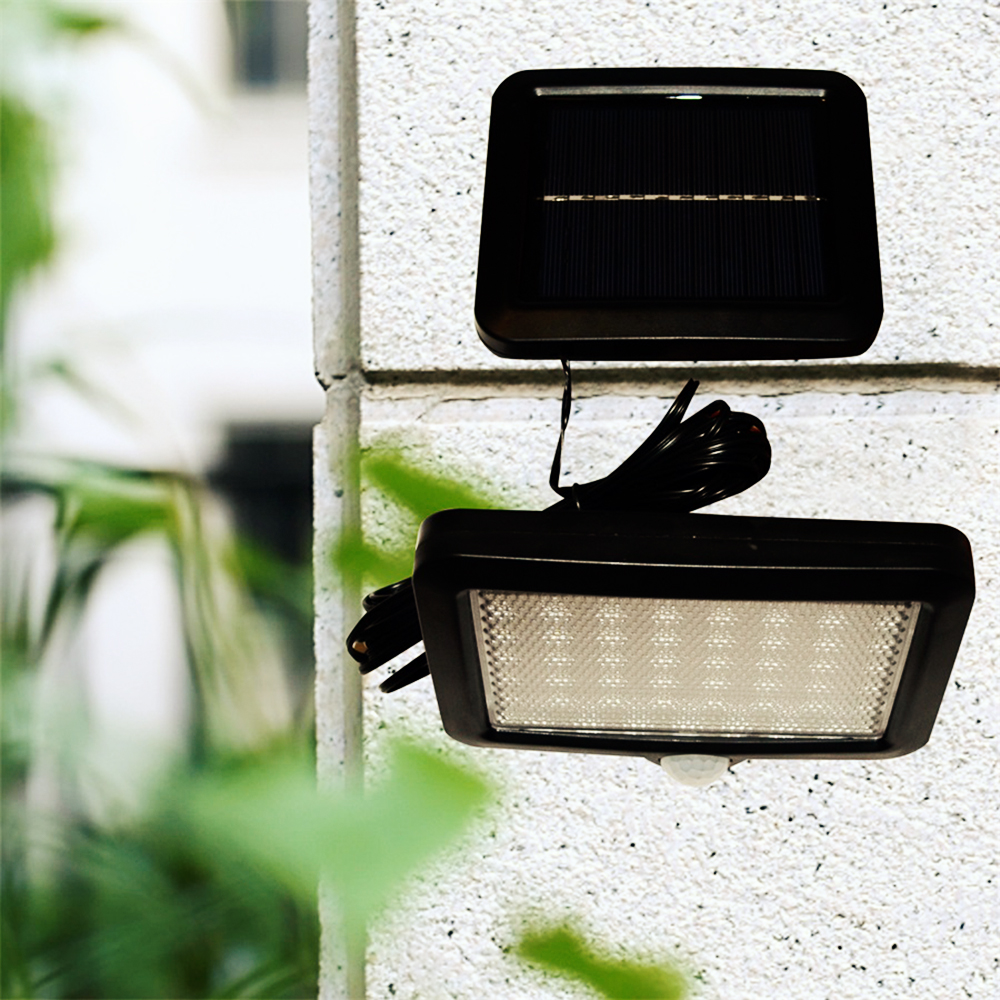 Waterproof 56 LED Outdoor Solar Power Lamp Motion Sensor Light Garden Security Lamp Intelligent Light-dependent Control Lamps light dependent chlorophyll biosynthesis