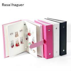 Лидер продаж Для женщин серьги коллекции книги из искусственной кожи серьги коробка для хранения творческие украшения Дисплей держатель