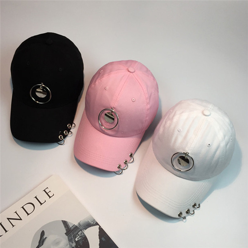 Baseball Cap Women Men 2018 New Summer Ring Snapback Hat Hippie Hip-Hop Adjustable Casual Cotton Hat Fall Girl Wholesale #FM15