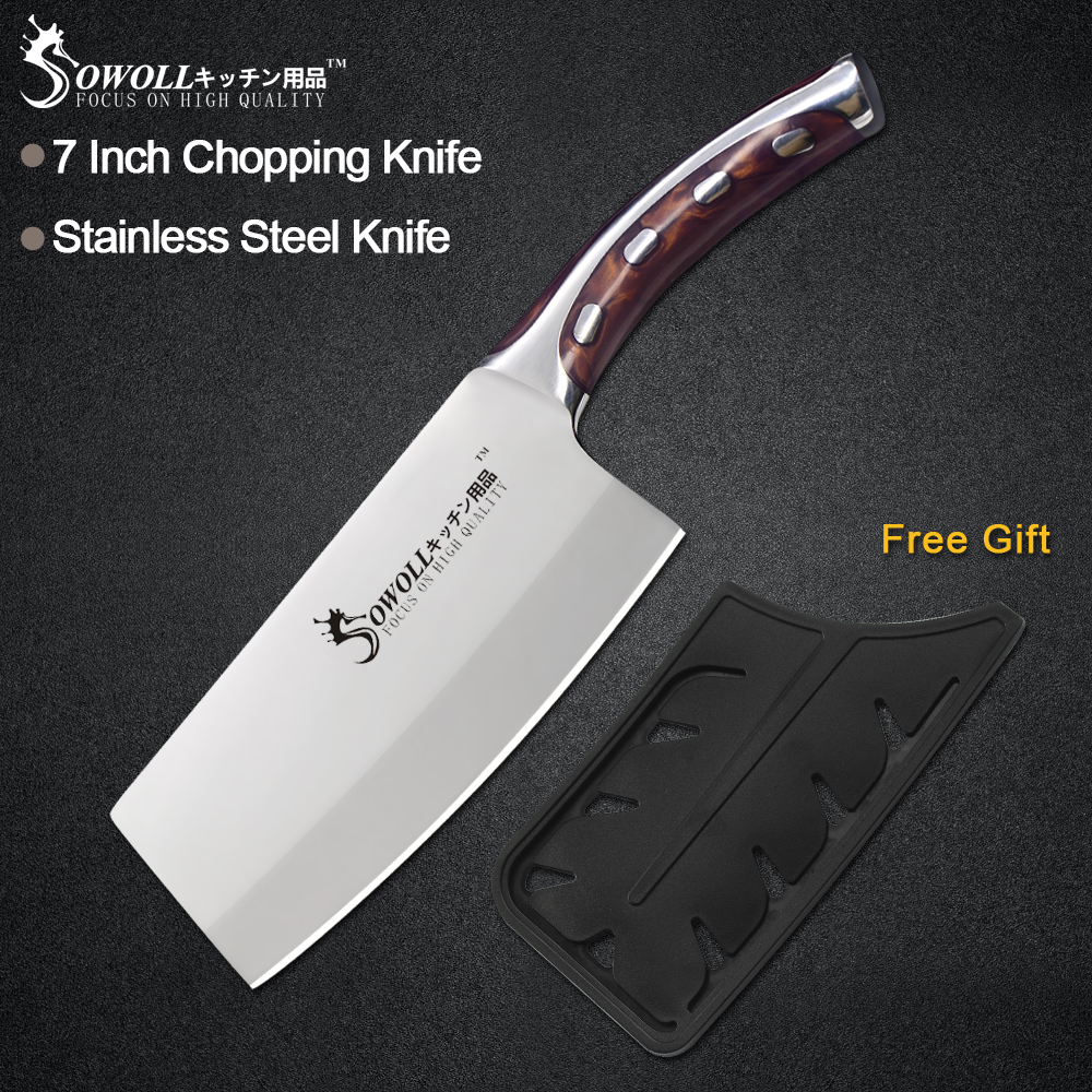 Sowoll Knife Cooking-Tools Chef High-Carbon-Blade Stainless-Steel Utility Fibre-Handle