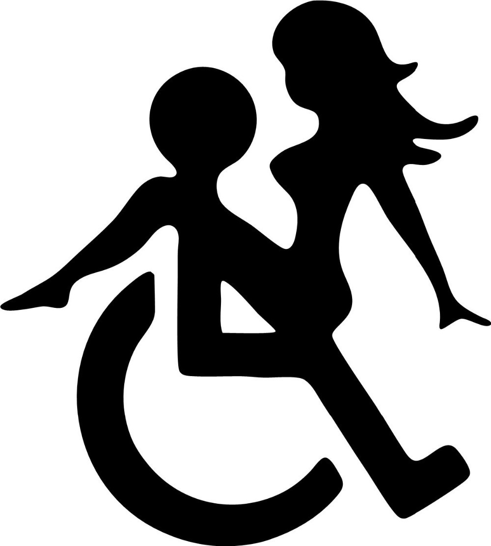 Wheelchair sex funny decals stickers suitable for cars bikes boats