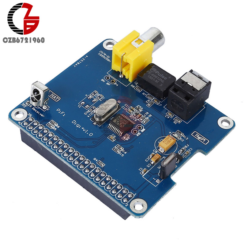 PIHI HIFI Digi+ Digital Audio Sound Card I2S SPDIF Optical Fiber Expansion Board for Raspberry pi 2 model B / B+ / A+ электрогитара epiphone lp 100 ebony ch