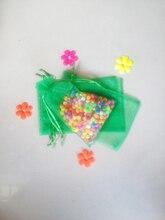 300 unids Hierba verde del regalo del organza bolsas 17×23 cm bolsos de fiesta para las mujeres evento casarse Con Cordón bolsa de La Joyería pantalla Bolsa de accesorios de bricolaje