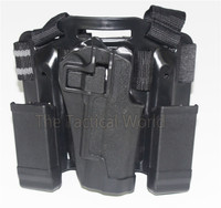 Hot Hunting Tactical Accessories CQC 1911 Drop Leg Thigh Holster Pistol Gun Airsoft Holsters With Magazine Pouch Black Tan Green