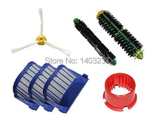 Bristle Brush Flexible Beater Brush Side Brush Aero Vac Filter Cleaning Tool for iRobot Roomba 500 Series 536 550 551 552 564