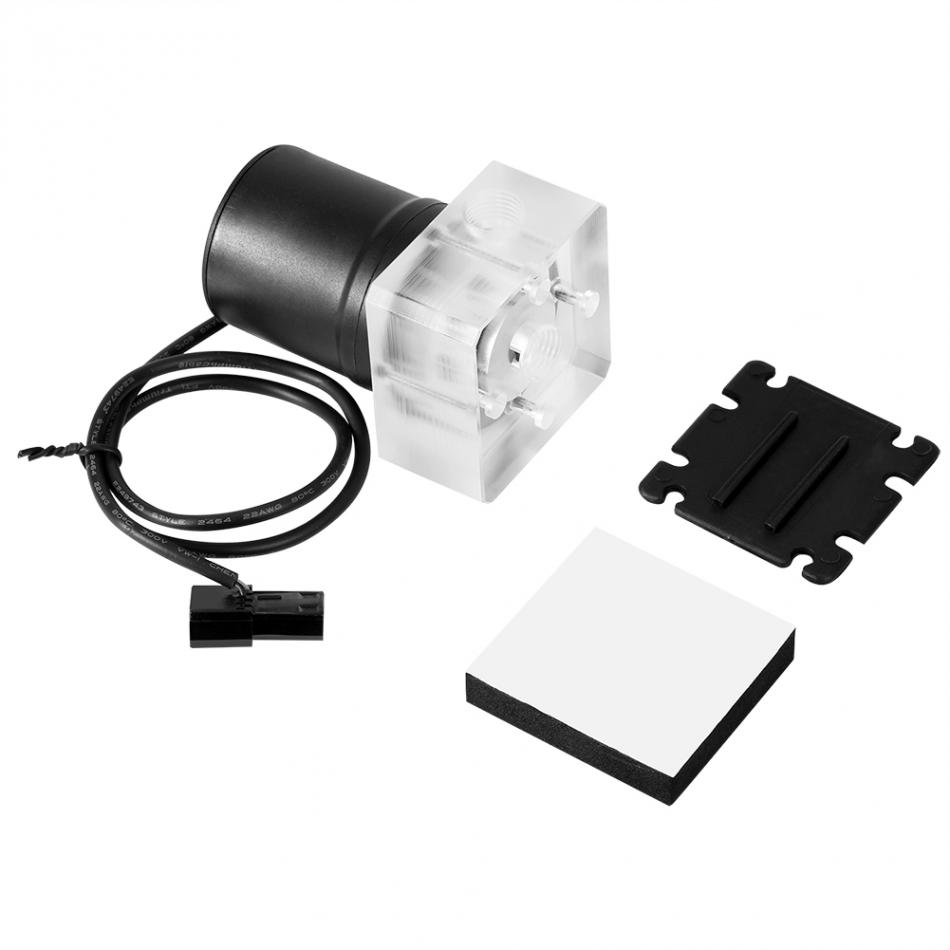 12V DC Water Pump 0.85A 10W Water Pump Fast Heat Dissipation Computer Water Cooling Pump 600L//H Water Flow Water Cooling System with Speed Line
