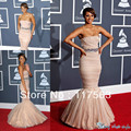 Free Shipping Romantic Mermaid Strapless Beaded Ruffle Organza Dreaming Celebrity Dress CD012
