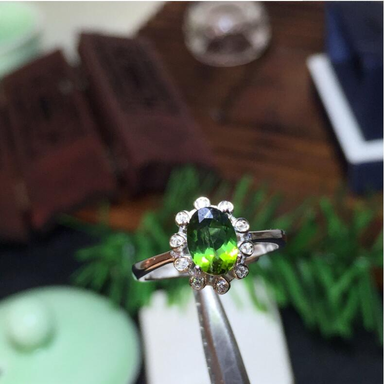 купить Tourmaline ring Natural real tourmaline ring 5*7mm gemstone 925 sterling silver Ring For Men Or Women