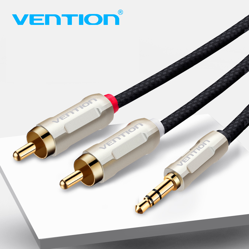 Vention RCA Cable 3.5mm to 2RCA Audio Cable RCA 3.5 Jack RCA Aux Cable for Amplifier DVD TV Mixer Home Theater Speaker Wire vention 3 5mm rca audio cable jack to 2 rca aux cable for edifer home theater dvd vcd iphone headphones hifi rca cable1m 2m 3m