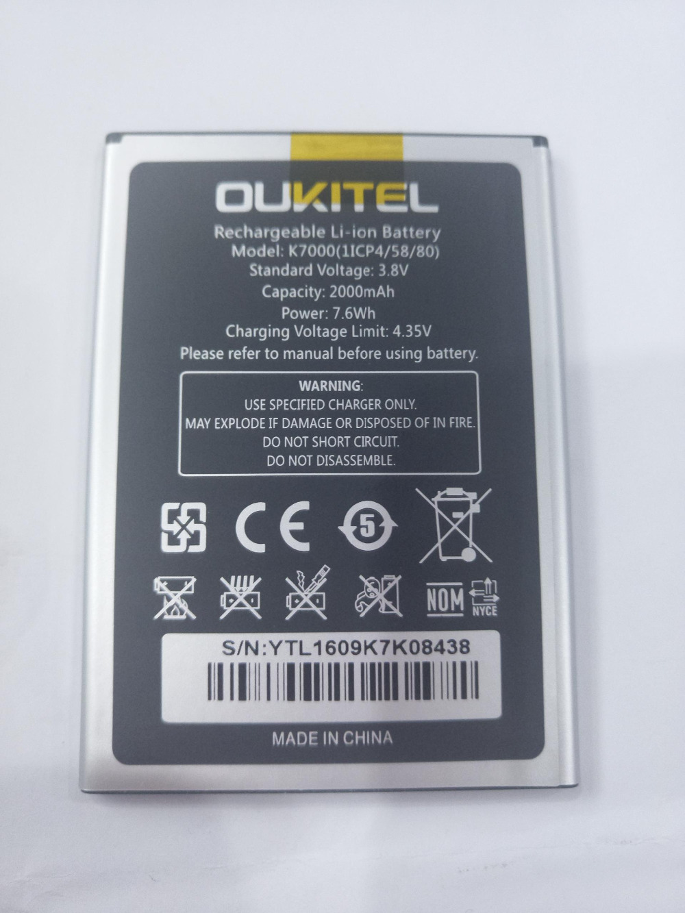 Oukitel K7000 Battery Original Battery 2000mAh Smartphone Replacement Accessary For Oukitel K7000 In stock