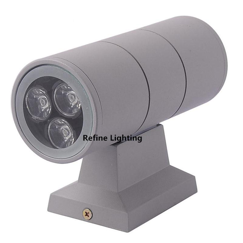 Outdoor porch lighting 6w 2 3 1w up and down led for Lampe a led exterieur