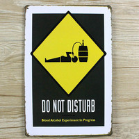 Do no disturb letters slogan vintage home decor metal Tin signs malt decorative plaques for bar wall art craft 20X30CM SP-YW-038