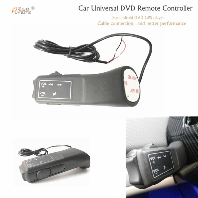 Livraison gratuite commande au volant de voiture interrupteur utilisation pour contrôle 2DIN lecteur DVD télécommande universelle sans fil Bluetooth