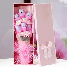 colorful cartoon bouquet kt cat bouquet doll bouquet birthday graduation gift bouquet gift box creative valentines - Cat Valentine Box
