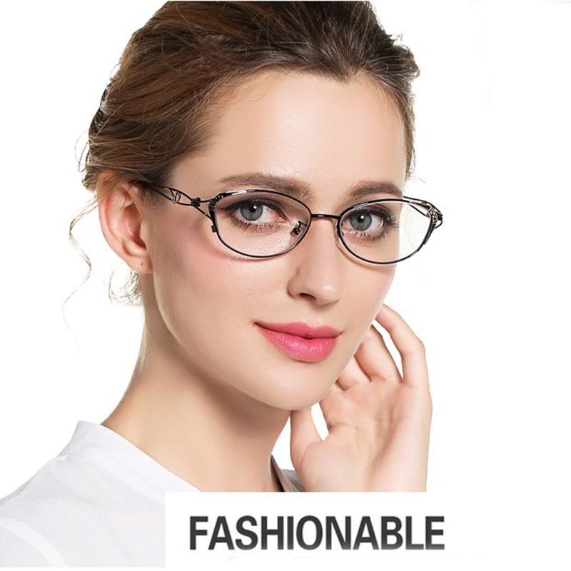 BCLEAR New Cat Eye Reading Glasses Women Fashion Presbyopic Reading Eyelasses Clear Anti-Blue Ray Computer Lenses +0.25 ~ +4.00