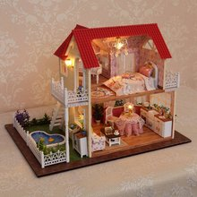Cuteroom DIY 3D Wooden Dollhouse Princess Room Handmade Decorations Birthday Gift Children Toy With Furnitures for
