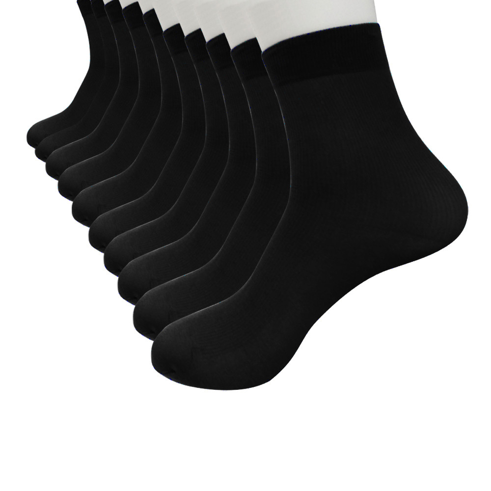 Socks 10 Pairs / Batch Men's Socks Bamboo Fiber Socks Men's Compression Harajuku Stockings Business Casual Men's Socks#10