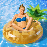 120cm Giant Pineapple Inflatable Swimming Ring Summer Party Pool Float 1
