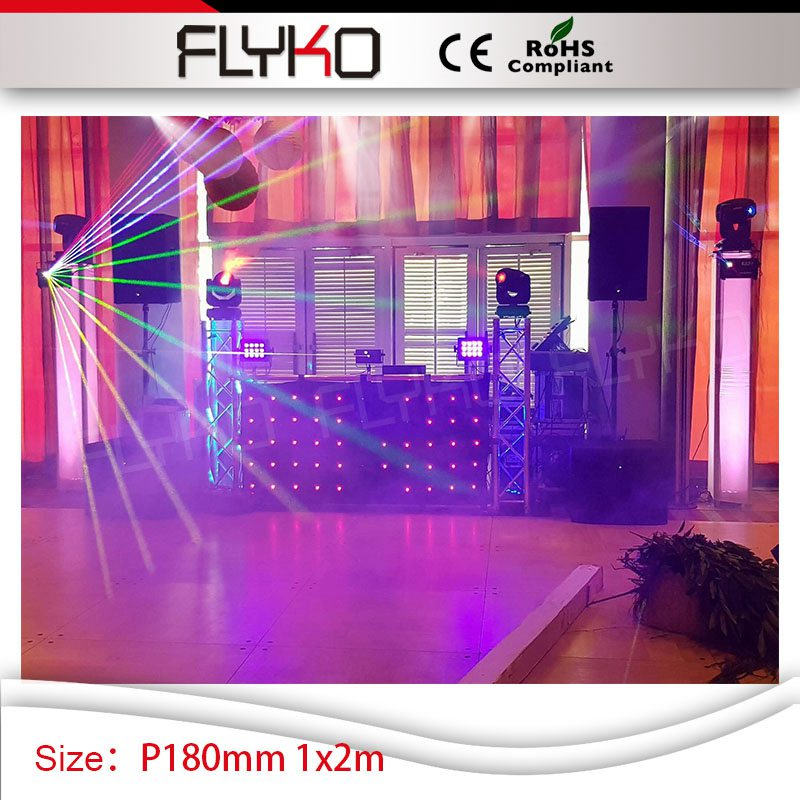 Free shipping P18 led curtain light 1x2m dj booth wedding church stage decoration led curtain dmx free shipping oxford material wedding party decoration inflatable the photo booth