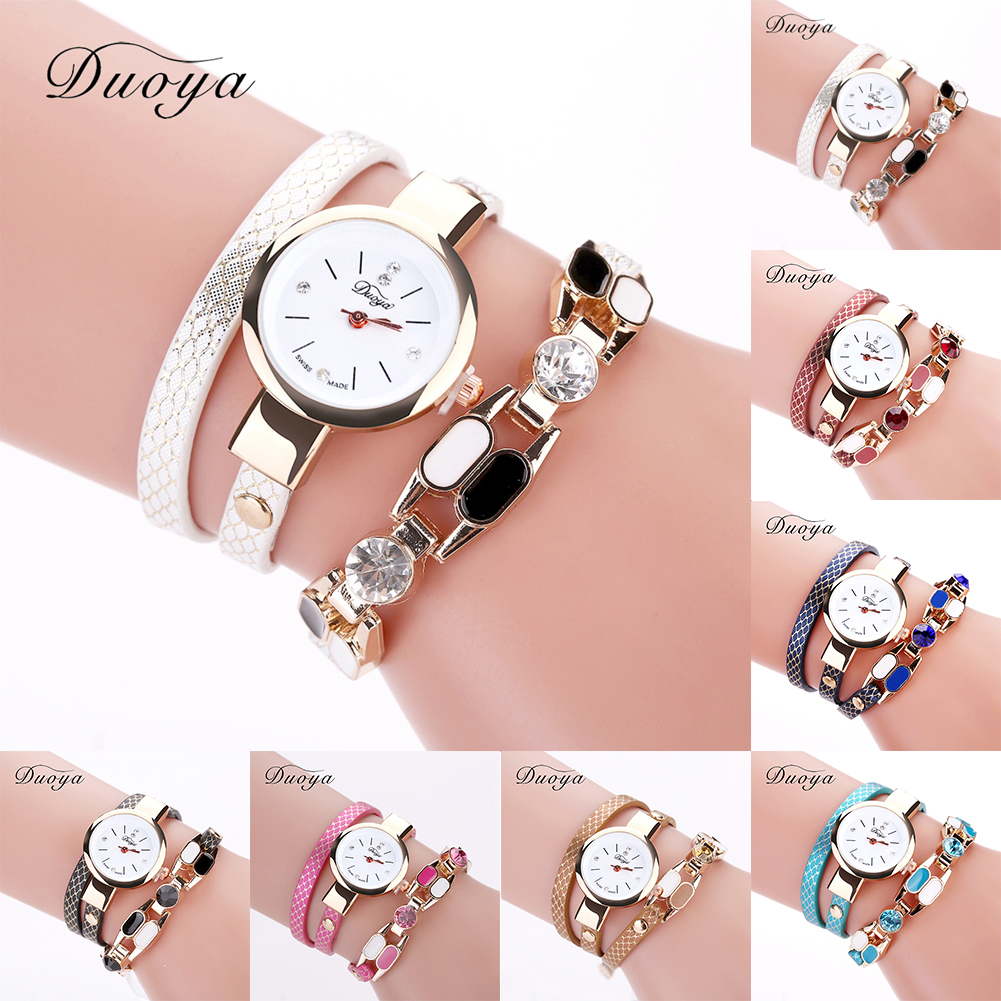 Fashion Brand Duoya Female Sexy Half Snake Print PU Leather Half Hollow Out Crystal Star Band