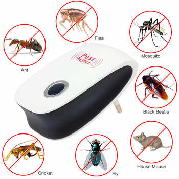 Enhanced Version Electronic Cat Ultrasonic Anti Mosquito Insect Repeller Rat Mouse Cockroach Pest Reject Repellent EU/US Plug - SALE ITEM Home & Garden