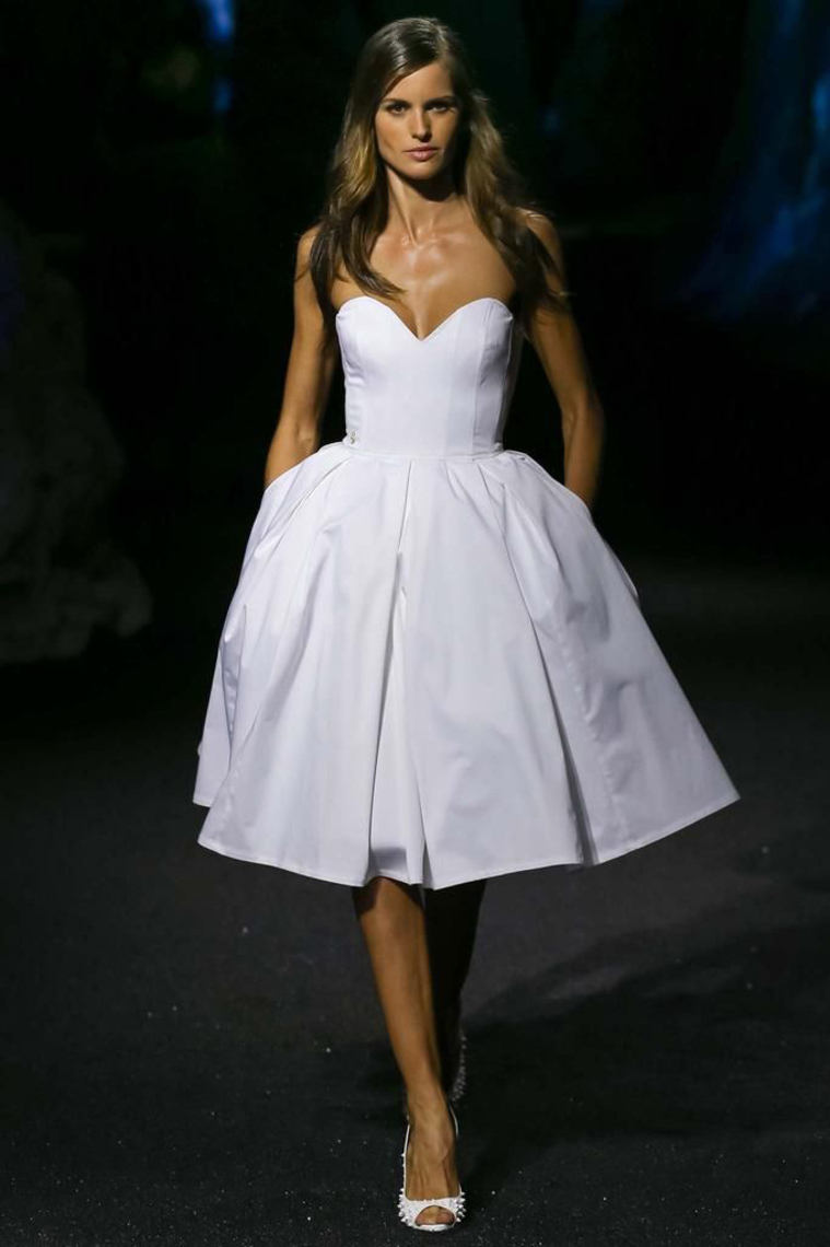 chic little white dresses knee length short wedding dress with pocket taffeta beach bridal gowns 2017