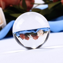 30mm White Clear Crystal Ball Glass Ball Globe Fengshui Miniature Oornaments For Gifts House Decoration Home Docor(China)