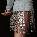 Luxury 2017 New Rhinestone Mini Skirts Sexy Sheer Short Crystal Short Skirt For Yong Lady To Party Custom Made Sparkly Skirt