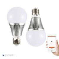 18 W E27/B22 Смарт светодиодный лампы Wi-Fi Регулируемый Яркость лампочка Поддержка Amazon ALEXA/Google Home TB распродажа