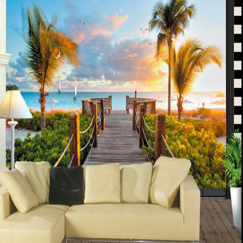 Online get cheap nature wallpaper photos for Cheap living room wallpaper