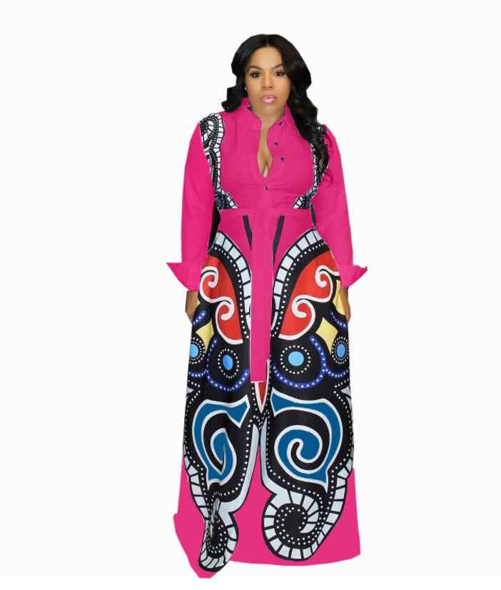 2018 verkauf Afrikanischen Kleid Herbst Und Winter Digitaldruck, T-shirt, Schlank Ärmeln Kleid, Neue, Mode, afrikanische, Frauen, Kleidung