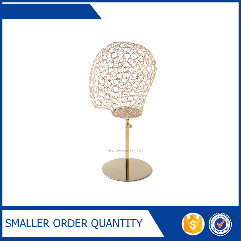 Free Shipping Metal Gold Hat Display Stand, Polished Gold Cap Display Racks free shipping metal hat display hat holder stand black hat display rack iron hat holder cap display hh013 white