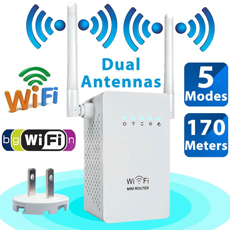 2.4GH Mini 300Mbps Wireless-N Range Extender WiFi Repeater Signal Booster Router XXM8