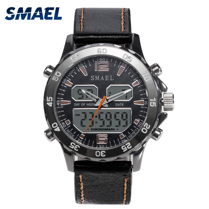 SMAEL Brand Sport Watch For Men Outdoor Waterproof LED Digital Wristwatch Smart Military Watch Man Chronograph Alarm Clock 1281(China)