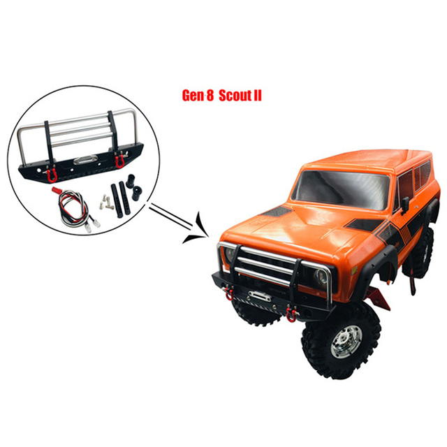 KYX 1/10 RC Crawler Metal Front Bumper for Redcat Racing GEN8 Scout II Parts Accessories
